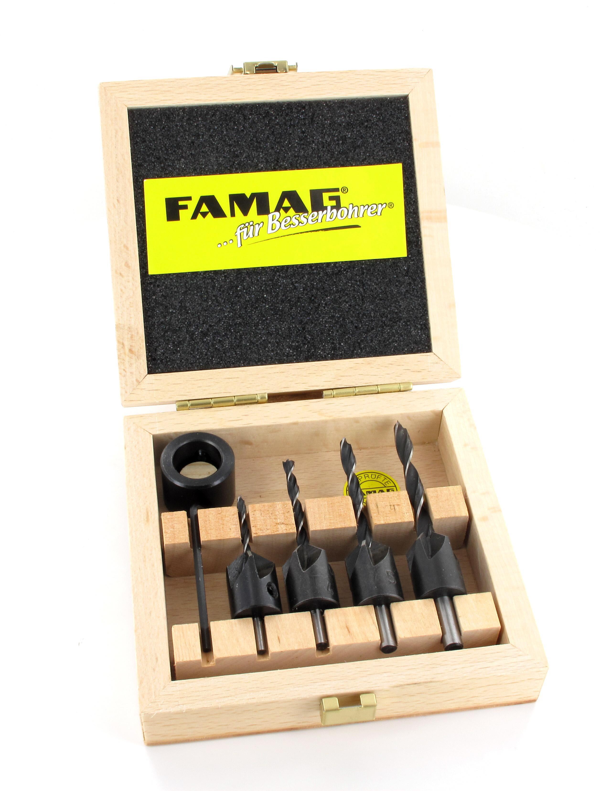 amw store famag aufstecksenker satz 3 6 mm profiset holzspiralbohrer senker holz. Black Bedroom Furniture Sets. Home Design Ideas