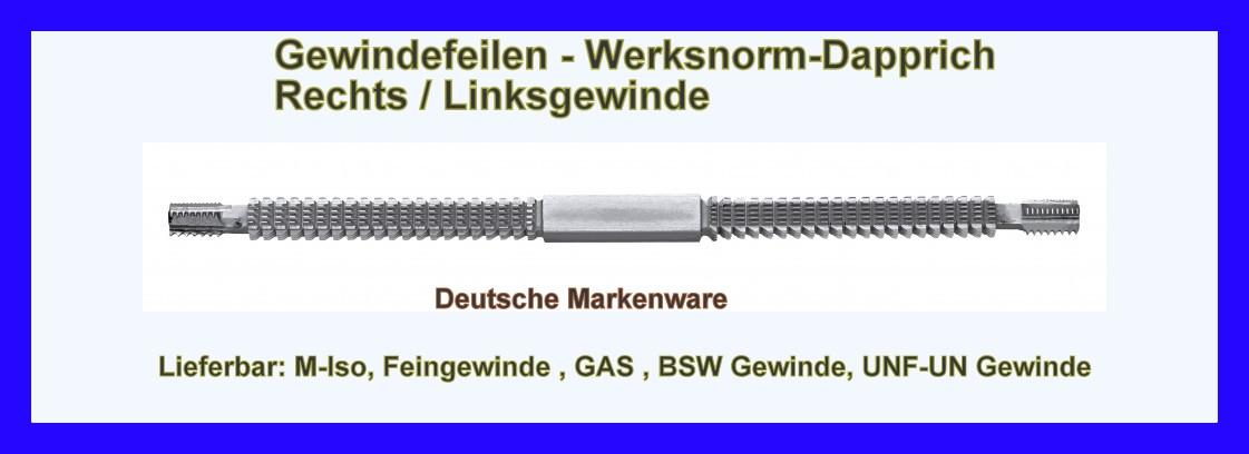 AMW-Store - Gewindefeile Metrisch rechts links M5-M27 ISO ...